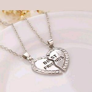 Jewelry - Silver best friend necklaces